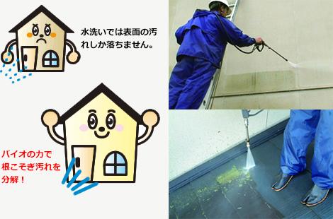 水洗いでは落ちない汚れも綺麗に洗浄