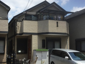 東京都西東京市 J様邸 屋根上葺、外壁塗装工事