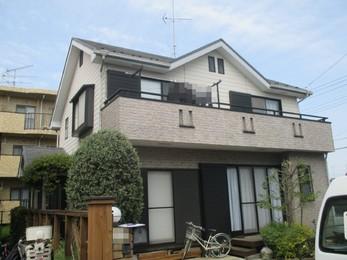 東京都 S様邸 屋根外壁塗装・バルコニーFRP防水工事